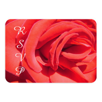 Lovely romantic red rose flower RSVP wedding 9 Cm X 13 Cm Invitation Card