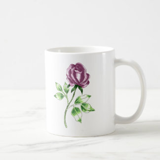 Lovely Rose Basic White Mug