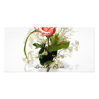 Lovely Rose Collection Customized Photo Card