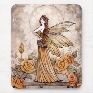 Lovely Rose Fairy Mousepad by Molly Harrison