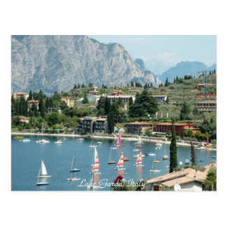 Lovely Sailboats at Lake Garda, Italy - Postcard