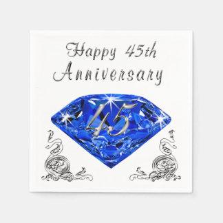 Lovely Sapphire 45th Wedding Anniversary Napkins Disposable Serviette