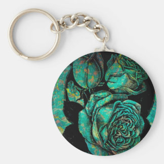 Lovely Serenity Basic Round Button Key Ring