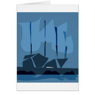 *LOVELY SHIPS BY ALBRUNO* GREETING CARD