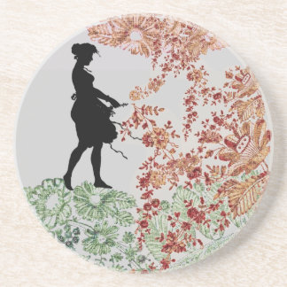 Lovely Silhouette Girl Coaster