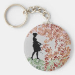 Lovely Silhouette Girl Key Chains
