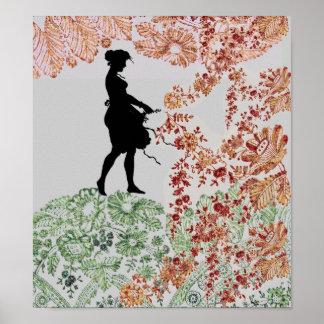 Lovely Silhouette Girl Poster