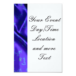Lovely Silk blue 9 Cm X 13 Cm Invitation Card