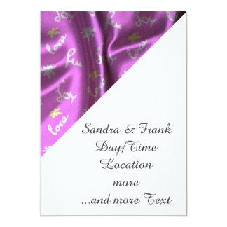 Lovely Silk pink 13 Cm X 18 Cm Invitation Card
