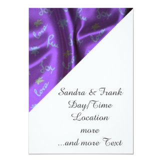 Lovely Silk purple 13 Cm X 18 Cm Invitation Card