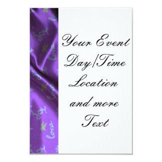 Lovely Silk purple 9 Cm X 13 Cm Invitation Card