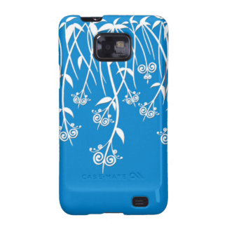 Lovely Sky Blue and White Floral Cases and Covers Samsung Galaxy SII Cover