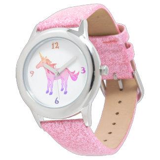Lovely Sleeping Unicorn Rainbow Watch