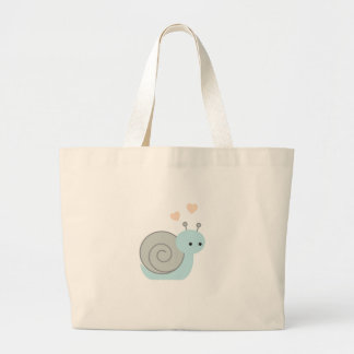 Lovely Snail Large Tote Bag