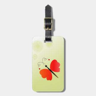 Lovely spring butterfly luggage tag