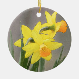 Lovely Spring Daffodils Christmas Ornament