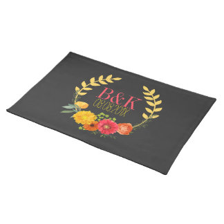 Lovely Spring Flowers Wreath Placemat