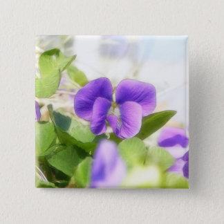 Lovely Spring Violet 15 Cm Square Badge