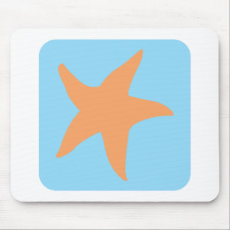 Lovely Starfish Icon Mousepads