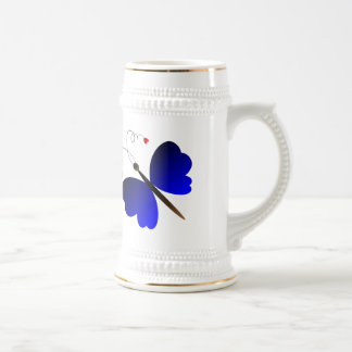 Lovely summer butterflies design beer stein