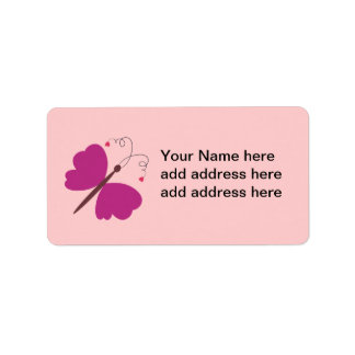 Lovely summer butterfly collection address label