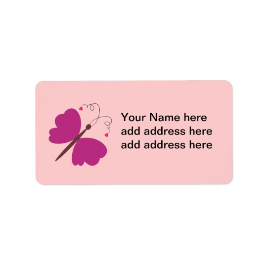Lovely summer butterfly collection label