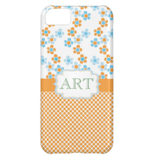 Lovely summer fun flowering yellow and blue iPhone 5C cases