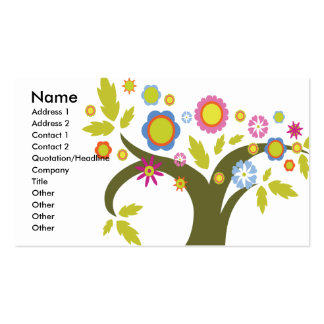 lovely summer tree vector business card templates