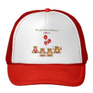 Lovely Teddy Bear Vector Graphics CUTE CARTOON COL Trucker Hat