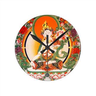 Lovely Tibetan Buddhist Art Round Clock