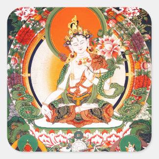 Lovely Tibetan Buddhist Art Square Sticker