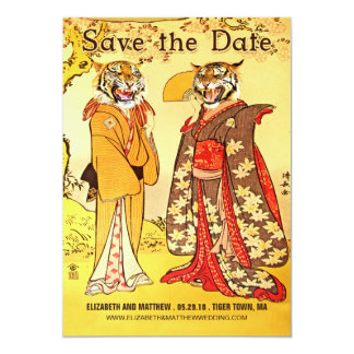 Lovely Tiger People Save the Date Invitations