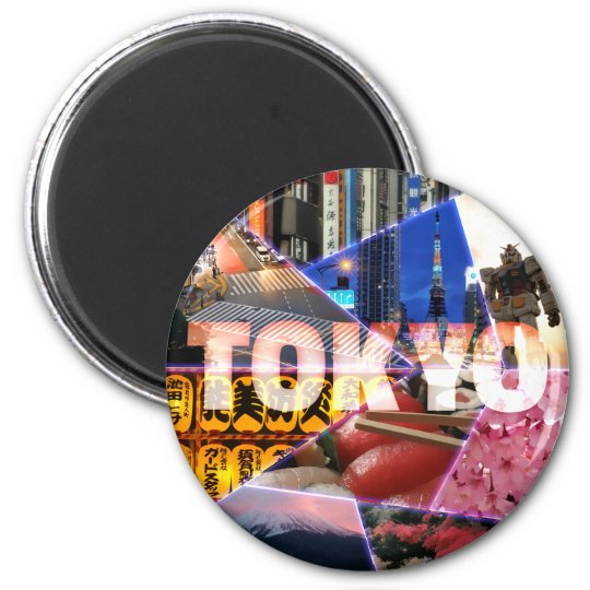 Lovely Tokyo Round Magnet