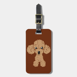 Lovely toy poodle luggage tag