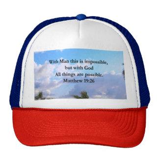 LOVELY TROPICAL MATTHEW 19:26 PHOTO DESIGN CAP
