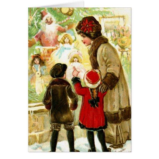 Lovely Vintage Christmas Illustration Card