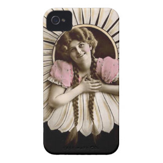 Lovely Vintage Flower Women iPhone 4 Case-Mate Case