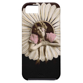 Lovely Vintage Flower Women Tough iPhone 5 Case