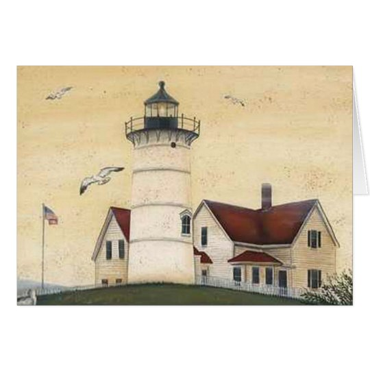 Lovely Vintage Lighthouse Photos and Illustrations Card