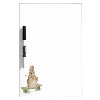 LOVELY VINTAGE RABBIT WITH CARROT, BUNNY BOARD