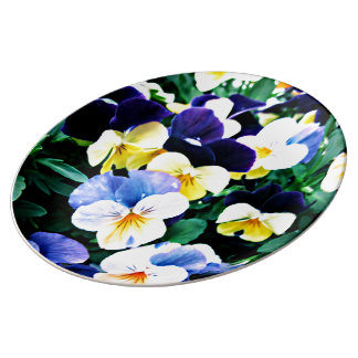 Lovely Viola Porcelain Plate