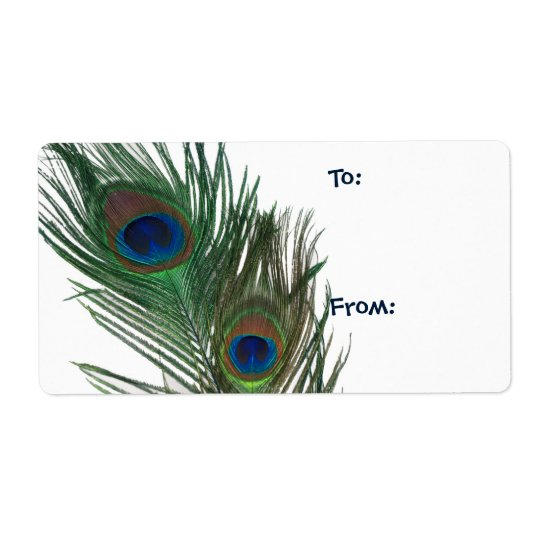Lovely White Peacock Gift Tag