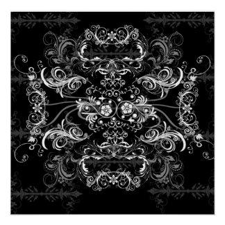 Lovely white Swirlies on black