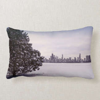 lovely winter Chicago - cotton pillows