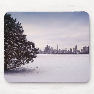 lovely winter Chicago - mousepads