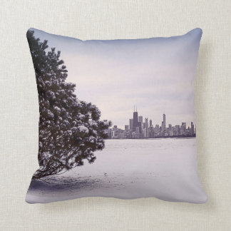 lovely winter Chicago - polyester pillows