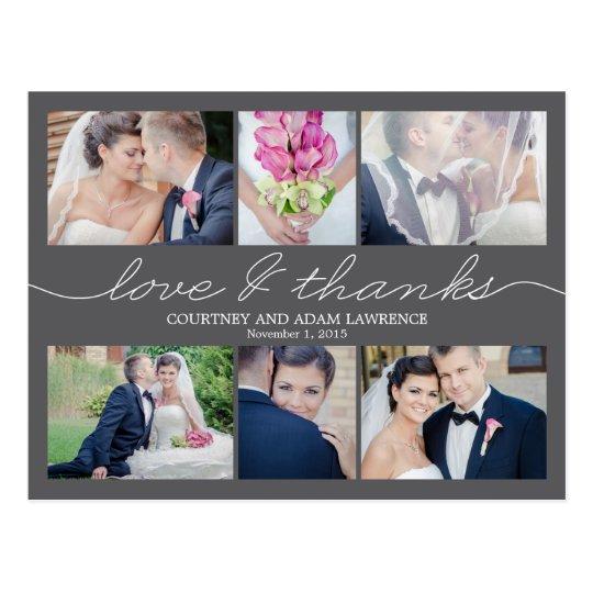 Lovely Writing Wedding Thank You Card - Grey