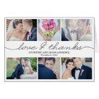 Lovely Writing Wedding Thank You Card - White