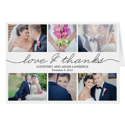 Lovely Writing Wedding Thank You Card - White Greeting Cards