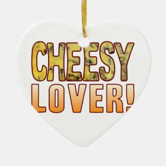 Lover Blue Cheesy Ceramic Heart Decoration